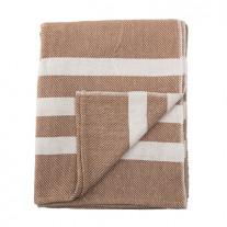 Bloomingville Decke braun mit creme weißen Streifen