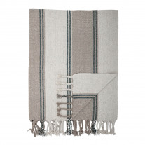 Bloomingville Decke Grau Streifen