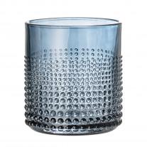Bloomingville Glas Blau mit Punkte Struktur