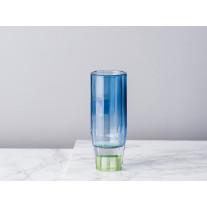 Bloomingville Kerzenhalter / Vase Glas Blau 12,5 cm