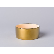 Bloomingville Windlicht Votive gold/orange Keramik