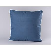 Bloomingville Kissen 50x50 blau mit Keder weiß