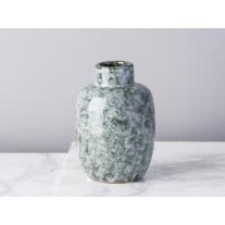 Bloomingville Vase schwarz weiß Keramik 11 cm