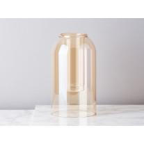 Bloomingville Vase Braun Glas Dom 23 cm