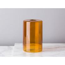 Bloomingville Vase Glas Zylinder Braun 13 cm
