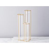 Bloomingville Vase 3er Gold Glas 25 cm