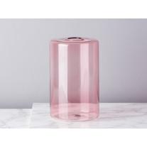 Bloomingville Vase Glas Zylinder Rosa 16 cm