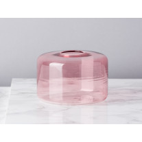 Bloomingville Vase Glas Zylinder Rosa 6,5 cm