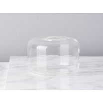 Bloomingville Vase Glas Zylinder Weiß 6,5 cm