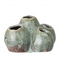 Bloomingville Vase Grün mit 5 Löchern