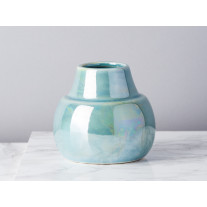Bloomingville Vase Paula blau metallic 10,5 cm