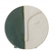 Bloomingville Vase Rund Grün / Weiß 18 cm