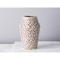 Bloomingville Vase rund mit Viereck Struktur 15 cm