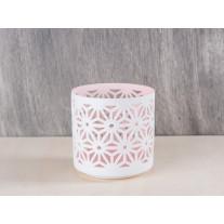 Bloomingville Votive Porzellan weiß/rosa