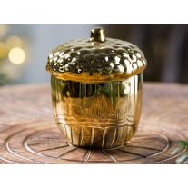 Bloomingville Deko Objekt Eichel gold Porzellan 9 cm