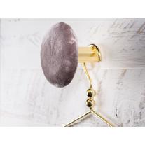 Cozy Living Kleiderhaken Helene Samt Grau / Gold 10 cm
