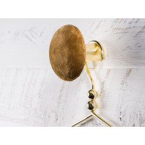 Cozy Living Kleiderhaken Helene Samt Braun / Gold 8 cm