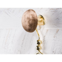 Cozy Living Kleiderhaken Helene Samt Braun / Gold 6 cm