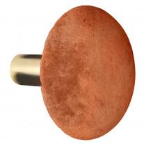 Cozy Living Kleiderhaken Helene Samt Spice Orange / Gold 10 cm
