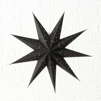 Faltstern Hänger Punkte Schwarz 60 cm