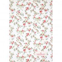 Greengate Geschirrtuch CARLY Weiß mit Blumen