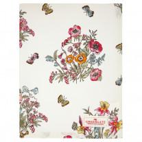 Greengate Geschirrtuch MYRA Weiß mit Blumen und Schmetterlingen