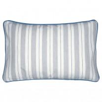 Greengate Kissen ELINOR PALE GREY Grau Weiß Streifen 30x50