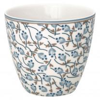 Greengate Latte Cup ADDISON Weiß Blau