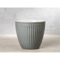 Greengate Latte Cup Becher ALICE STONE GREY Grau
