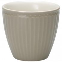 Greengate Latte Cup Becher ALICE WARM GREY Grau