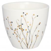Greengate Latte Cup ANTONIA Weiß
