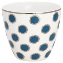 Greengate Latte Cup SAVANNAH Weiss Punkte Blau