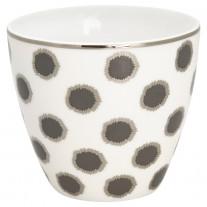 Greengate Latte Cup SAVANNAH Weiss Punkte Schwarz