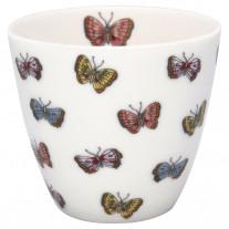 Greengate Latte Cup MAISIE Weiß Schmetterlinge