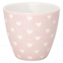 Greengate Latte Cup PENNY PALE PINK Rosa mit Herzen