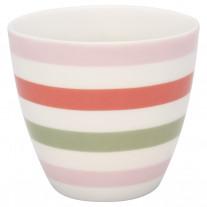 Greengate Latte Cup VALENTINA Weiß Streifen