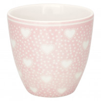 Greengate MINI Latte Cup PENNY PALE PINK Rosa mit Herzen
