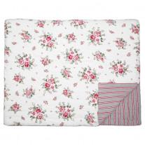 Greengate Quilt ELOUISE Weiß Rot 180x230