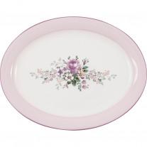Greengate Servierplatte MARIE DUSTY ROSE Rosa Oval 25x33 cm