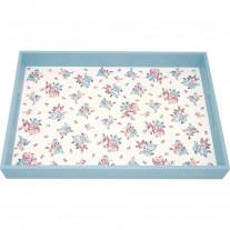Greengate Tablett ELLIE Weiß Blau 31x45 cm