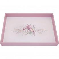 Greengate Tablett MARIE DUSTY ROSE Weiß 31x45 cm