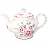 Greengate Teekanne ELOUISE Weiß Rot