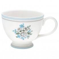 Greengate Teetasse NICOLINE Weiß Blau