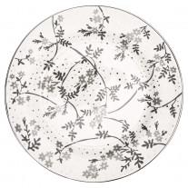 Greengate Teller AMIRA Weiß Grau 20 cm