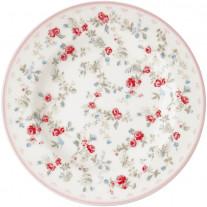 Greengate Teller CARLY Weiß 15 cm