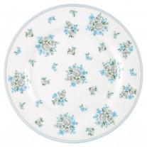 Greengate Teller NICOLINE Weiß Blau 20 cm