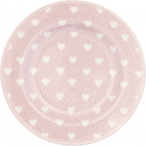 Greengate Teller PENNY PALE PINK Rosa mit Herzen 15 cm