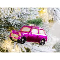 Hänger Auto mit Baum Pink glänzend