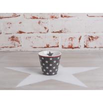 Krasilnikoff Espresso Tasse Sterne dunkelgrau