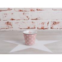 Krasilnikoff Espresso Tasse Sterne rosa